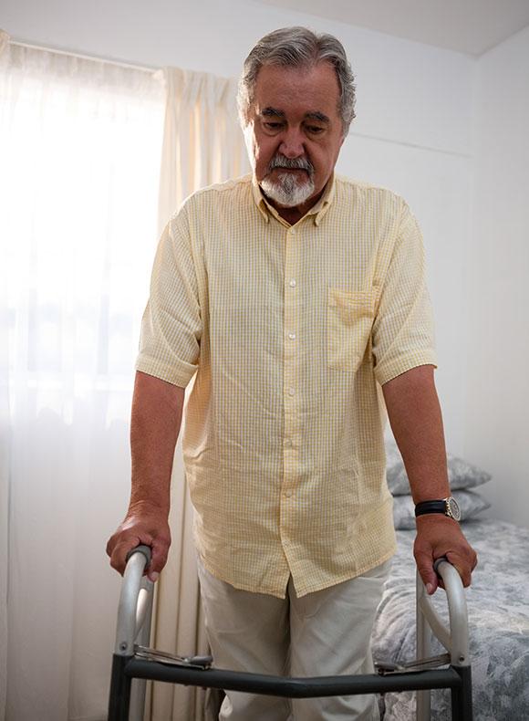 Man using a walker