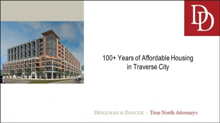 Rendering of a new affordable housing development in Traverse City