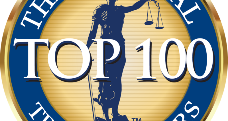 Award for The National Trial Lawyers Top 100