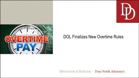 The phrase Overtime Pay written over a clock